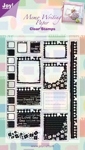 Joy! crafts - Clearstamp - Memo Writing Paper - 6410/0037