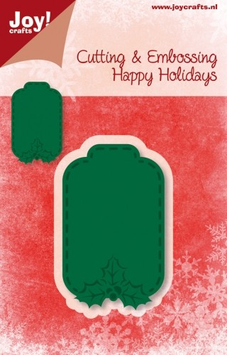Joy! crafts - Noor! Design - Die - Happy Holidays - Label