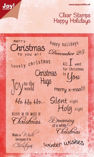 Joy! crafts - Noor! Design - Clearstamp - Happy Holidays - Tekst (ENG) - 6410/0112