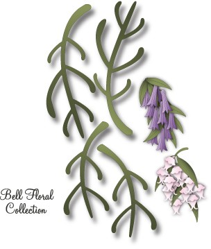 Dee`s Distinctively - Die - Bell Floral Stem 1
