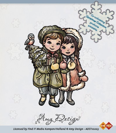 Amy Design - Clearstamp - Christmas Collection - Christmas couple - ADST10003