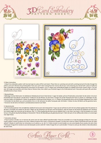 Card Deco - Ann`s Paper Art - 3D-knipvel - Summer Pansies