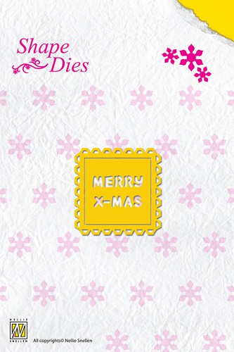 Nellie Snellen - Die - Shape Die - Text - Merry Christmas