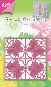 Joy! crafts - Die - Fantasy Butterflies - Vierkant vlinder