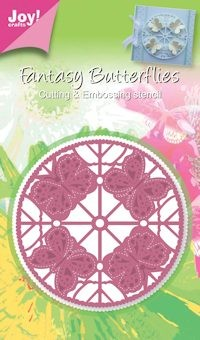 Joy! crafts - Die - Fantasy Butterflies - Rond vlinder