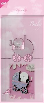 Joy! crafts - Die - Open Up Stencil - Baby met kinderwagen