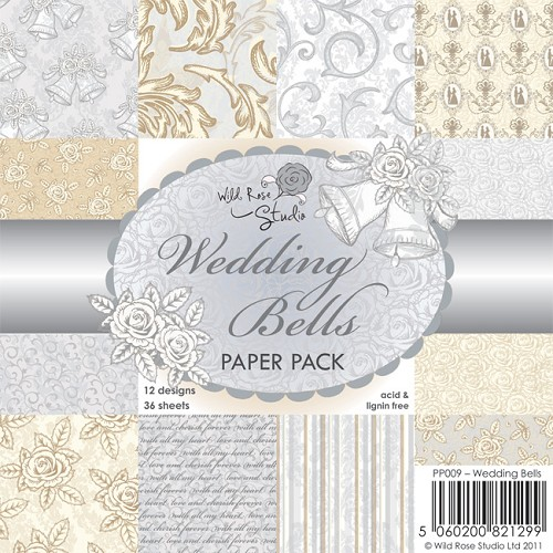 Wild Rose Studio`s - Paperpack - 152 x 152mm - Wedding Bells