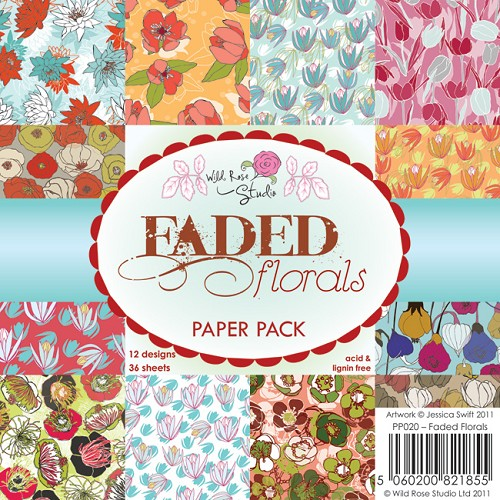 Wild Rose Studio`s - Paperpack - Faded Florals - PP020