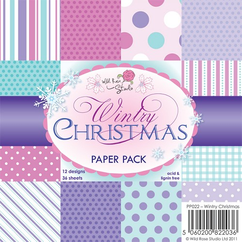 Wild Rose Studio`s - Paperpack - Wintry Christmas - PP022