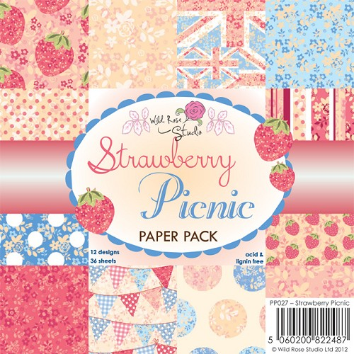 Wild Rose Studio`s - Paperpack - Strawberry Picnic - PP027