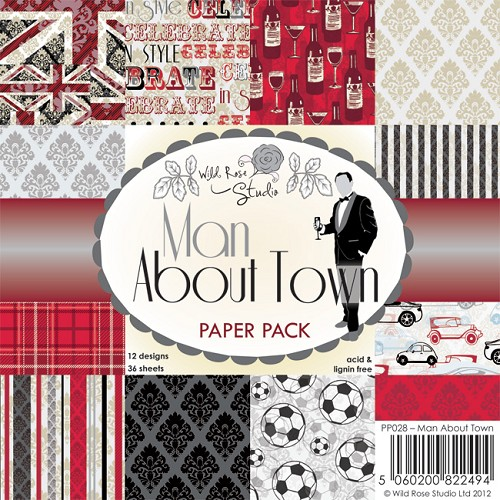 Wild Rose Studio`s - Paperpack - Man about Town - PP028