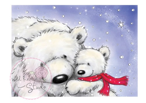 Wild Rose Studio`s - Clearstamp - Polar Bears - CL270