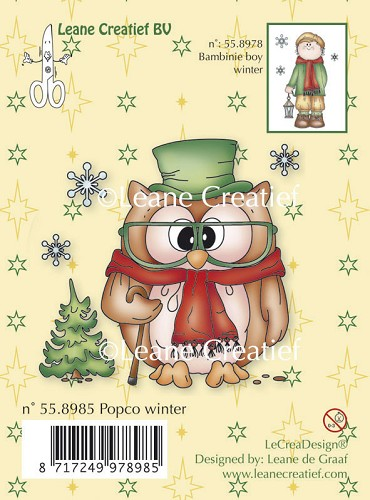 Leane Creatief - Clearstamp - Popco winter - 55.8985