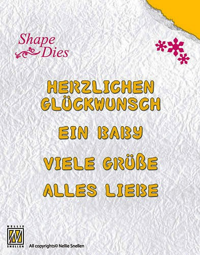 Nellie Snellen - Die - Shape Die - German Texts