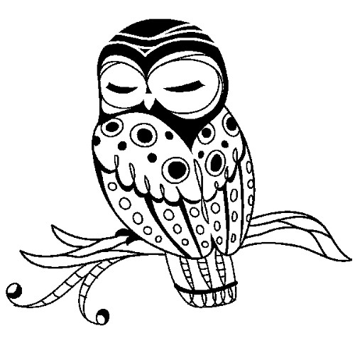 Inkadinkado - Clearstamp - Sleepy Owl - 99009