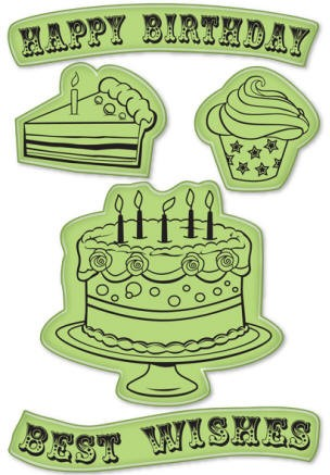 Inkadinkado - Cling Stamp - Happy Birthday - 60-60012