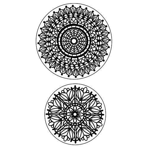 Inkadinkado - Cling Stamp - Lace Doilies - 60-60022