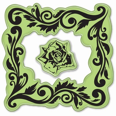 Inkadinkado - Cling Stamp - Rose Frame - 60-60003