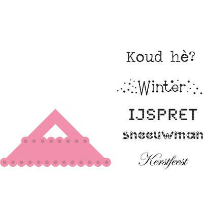Marianne Design - Die - Collectables - Hoekje en wintertekst (NL) - COL1341