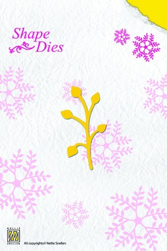 Nellie Snellen - Die - Shape Die - Single-leaf branch