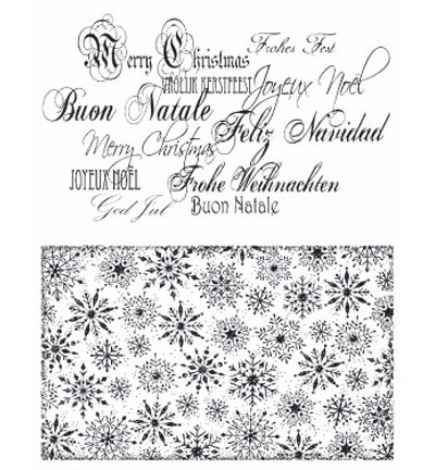 Viva Decor - Clearstamp - Christmas - Background and Letters - 4003 010 00