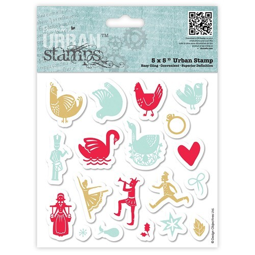 Papermania - Cling Stamp - 12 Days of Christmas - Icons - PMA907909
