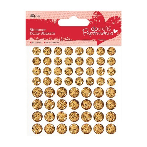 Papermania Shimmer Dome Stickers: Gold