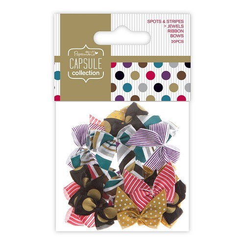 Papermania - Strikken / bows - Capsule Collection - Spots & Stripes Jewels - PMA367208