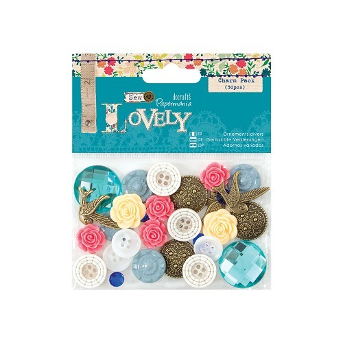 Papermania - Buttons - Charm Pack - Sew Lovely - PMA354801