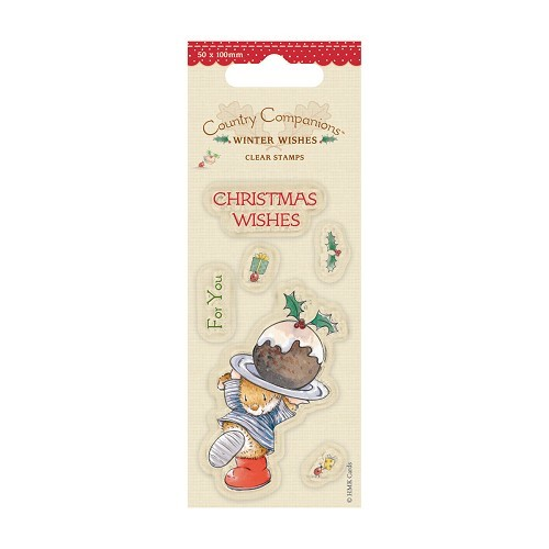 Docrafts - Contry Companions - Clearstamp - Winter Whishes - Christmas Cake - CCP907103