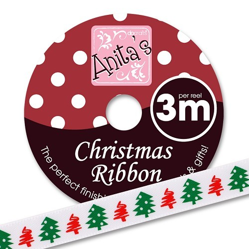 Docrafts - Anita`s Lint - Christmas Ribbon: Christmas Trees - ANT367915