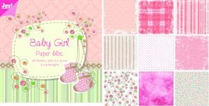 Joy! crafts - Noor! Design - Paperpack - Baby girl - 6011/0023