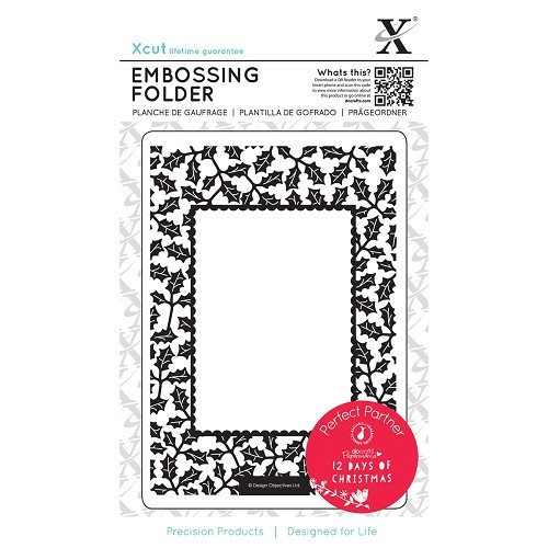 Xcut - Embossingfolder - 12 Days of Christmas - Holly - XCU515903
