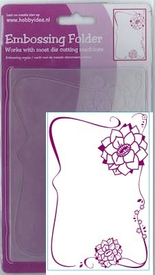 Centralcraftcollections - Embossingfolder - Bloem ornament - CCC-4070