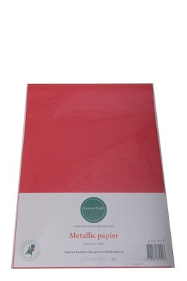 Central Craft Collection - Metallic Papier: Rood - 1103-007