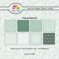 Dixi Craft - Paperpack - Floral Pattern: Green - PP0005