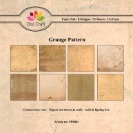 Dixi Craft - Paperpack - Grunge Pattern - PP0001
