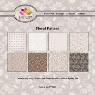 Dixi Craft - Paperpack - Floral Pattern: Brown - PP0002