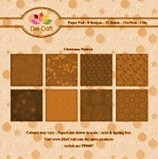 Dixi Craft - Paperpack - Floral Pattern: Orange - PP0006