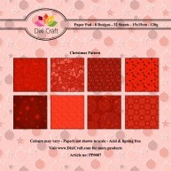 Dixi Craft - Paperpack - Christmas Pattern: Red - PP0007