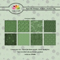 Dixi Craft - Paperpack - Christmas Pattern: Green - PP0008