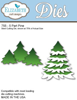 Elizabeth Craft - Die - 5 Part Pine - 755