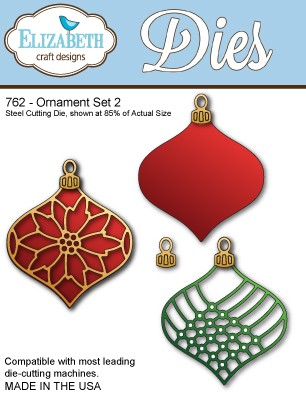 Elizabeth Craft - Die - Ornament Set 2 - 762