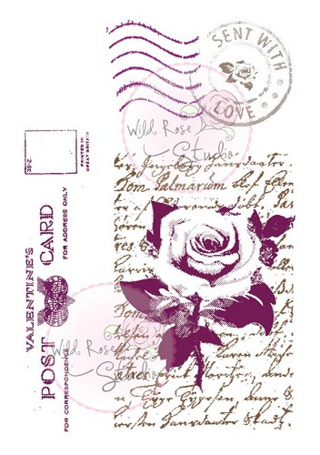 Wild Rose Studio`s - Clearstamp - Love Letters - CL209