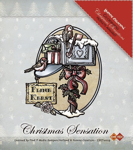 Yvonne Creations - Clearstamp - Christmas Sensation - Postbox - CDST10019