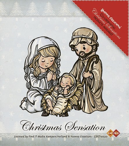 Yvonne Creations - Clearstamp - Christmas Sensation - Jesus, Maria and Josef - CDST10020