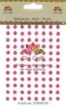 Dixi Craft - Rhinestones - 6mm: Pink - RHIN0103