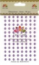 Dixi Craft - Rhinestones - 6mm: Light purple - RHIN0107