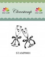 Dixi Craft - Clearstamp - Wedding glasses - STAMP0001