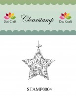 Dixi Craft - Clearstamp - Christmas star - STAMP0004